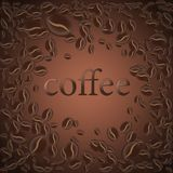Roasted coffee bean, vector illustration background for the design of pages royalty free stock image