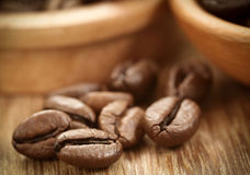 Roasted coffee bean Royalty Free Stock Images