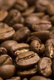 Roasted coffee beans. Mackro shot Stock Photography