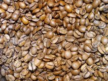 Roasted whole coffee beans stock photography