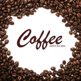 Roasted coffee beans background Royalty Free Stock Photo