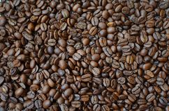 Roasted coffee beans background royalty free stock image