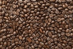 Roasted of coffee beans for background. Close-up royalty free stock images