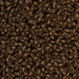 Roasted coffee beans background, close-up image Royalty Free Stock Photos
