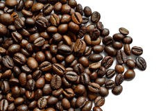 Roasted coffee beans background. Fresh roasted coffee beans background, texture. Arabica bean wallpaper, close-up Royalty Free Stock Photography
