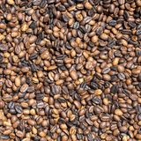 Roasted coffee beans background in market, Bali, Indonesia. Royalty Free Stock Photos