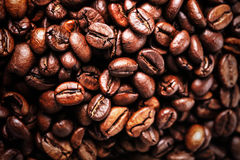 Roasted Coffee Beans background texture. Arabic roasting coffee Stock Photography