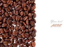 Roasted Coffee Beans background texture isolated stock photography
