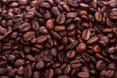 Roasted coffee beans - the beautiful food background Stock Photography