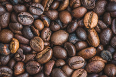 Roasted Coffee Beans Burlap Canvas Background Royalty Free Stock Photos