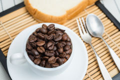 Roasted coffee beans, can be used as a background Royalty Free Stock Photo
