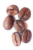 Roasted coffee beans, can be used as a background Royalty Free Stock Image
