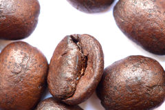 Roasted coffee beans, can be used as a background Stock Image