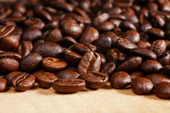 Roasted coffee beans, can be used. As a background stock photos