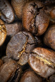 Roasted coffee beans, close up. Stock Images