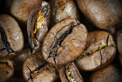 Roasted coffee beans, close up. Stock Photography