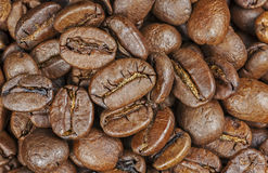 Roasted coffee beans, close up. Stock Photo