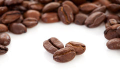 Roasted coffee beans in closeup Stock Image