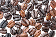 Roasted Coffee Beans. Closeup Roasted Coffee Beans Heap use for background and texture Stock Photo