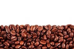 Roasted coffee beans with copy space on the top Stock Photography