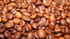 Roasted coffee in beans Royalty Free Stock Photos