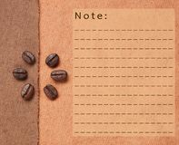 Roasted Coffee Beans on fabric textile Royalty Free Stock Images