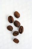 Roasted coffee beans. Few roasted coffee beans. Some coffee beans Stock Photo