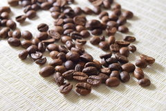 Roasted coffee beans. Fresh and roasted coffee beans Stock Photography
