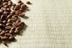 Roasted coffee beans. Fresh and roasted coffee beans Stock Image