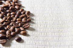 Roasted coffee beans. Fresh and roasted coffee beans Stock Photos