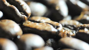 Roasted coffee beans stock video footage