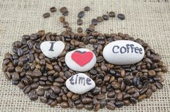 Roasted coffee beans with Stock Images
