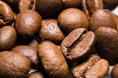 Roasted coffee beans macro close up texture pattern. Motif Stock Photo