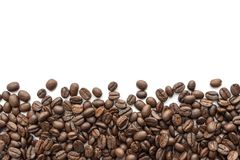 Free Roasted Coffee Beans On White Background. Close-up Stock Photo - 136954890