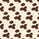 Roasted coffee beans pattern Stock Photos
