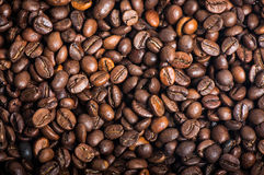 Roasted coffee beans. Perfect as a background royalty free stock photo