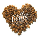 Roasted coffee beans. Royalty Free Stock Images