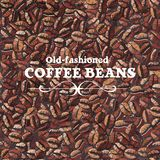 Roasted coffee beans. Seamless pattern Stock Image