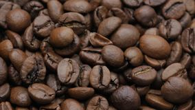 Roasted coffee beans. stock footage