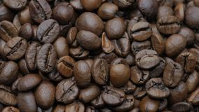 Roasted coffee beans. stock video footage
