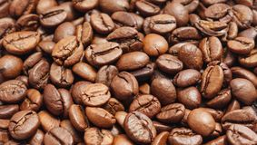 Roasted coffee beans. Stock Photo