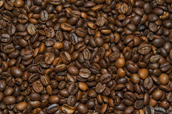 ROASTED COFFEE BEANS. On the table Royalty Free Stock Photo