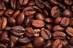 roasted coffee beans texture beautiful food background Royalty Free Stock Image