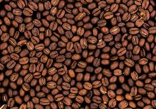 Roasted coffee beans texture Royalty Free Stock Photos