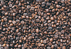 Roasted coffee beans. Texture of coffee beans Stock Photography