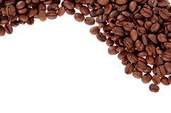 Roasted Coffee Beans white background isolated royalty free stock images