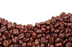 Roasted Coffee Beans With Copy Space On The Top Stock Photo