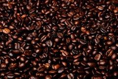 Roasted coffee grains. Stock Photo