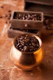 Roasted coffee grains Stock Photos