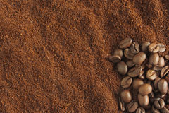 Roasted coffee ground Stock Images